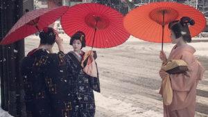 Редкий снегопад превратил яп…