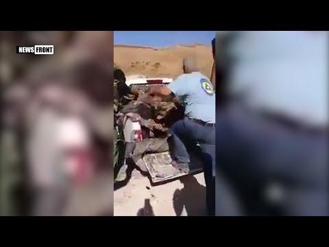 [21+] «Белые каски» участвуют в обезглавливании солдат армии Сирии