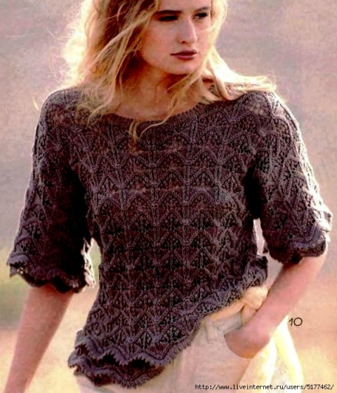 Вяжем. Пуловер спицами