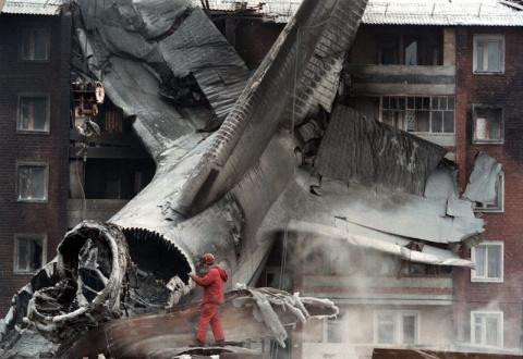"""Авиакатастрофа в этот день 16 лет назад. Военно-транспортный самолёт Ан-124 """"Руслан"""" ВВС России упал на жилой дом в Иркутске"""