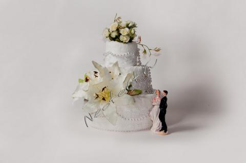 Свадебный торт из полотенец
