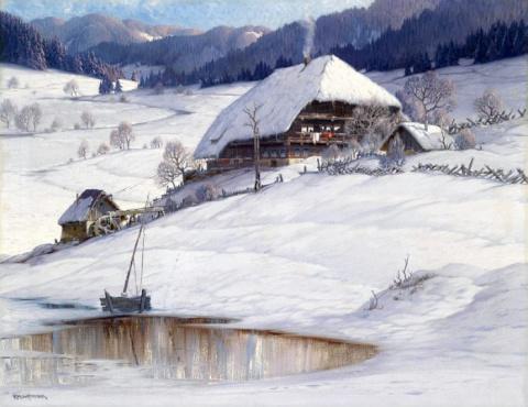 Альпийские пейзажи Карла Гауптмана