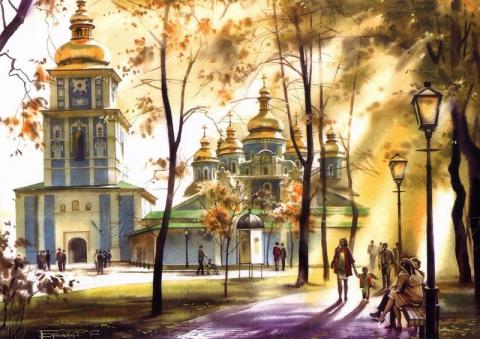 Городские пейзажи Сергея Брандта