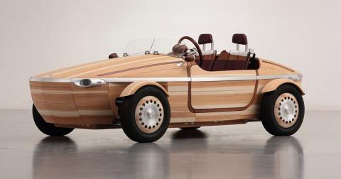 Тойота сделала новый концептуальный автомобиль из дерева