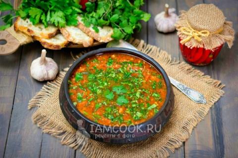 Суп «Харчо» с курицей и рисом