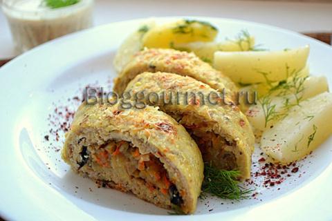 Рыбный рулет с овощами: вкус…