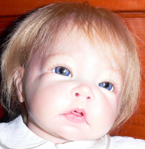 Познакомьтесь, это Лючия. Она родилась 14 декабря 2011г. Она создана из винилового молда реборн скульптора Элли Кнопс. Молд можно купить на ebay в США, Англии и Гетмании