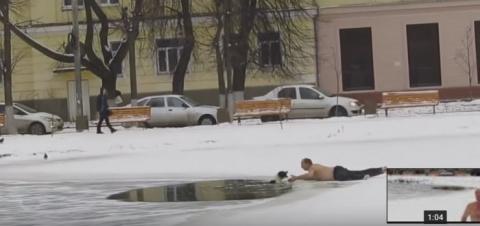 Россиянин в трениках спас со…