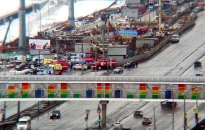 Видео с места обрушения тоннеля в Новой Москве