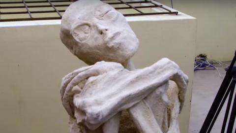 Таинственная мумия пришельца…