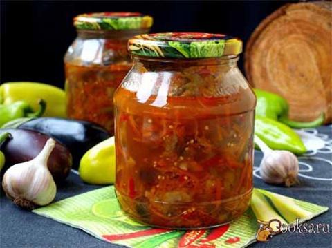 Салат на зиму из баклажанов …