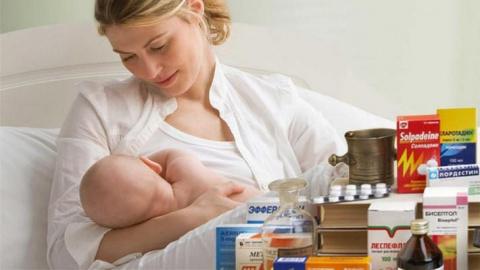 Приём лекарств в период кормления