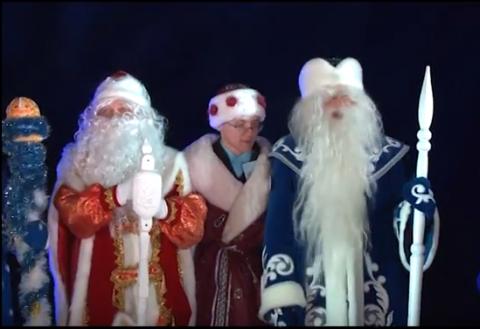 Братья Деды Морозы навестили Паккайне в Карелии