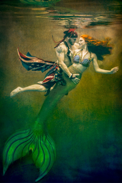 Невероятные и безумно красивые фотопортреты под водой