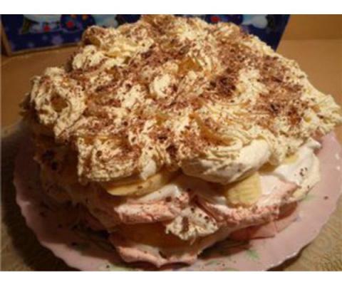 Торт из зефира с фруктами