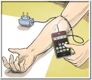 Зависимые от телефонов люди …