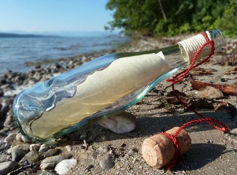 Калининградка нашла в море бутылку с посланием из Дании