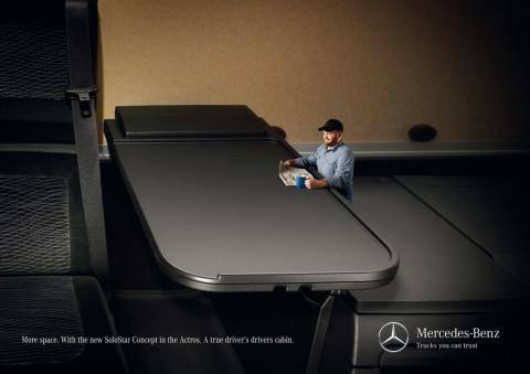 Малипусенькие водители снялись в рекламе грузовиков