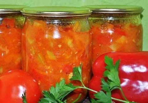 Овощной салат-соус на зиму