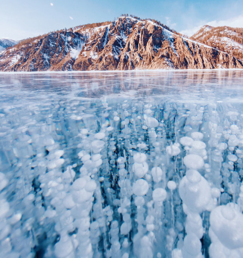 Замерзший Байкал: красота са…