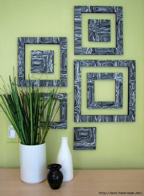 Стильный геометрический декор стен. Идеи, мастер-классы