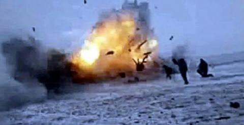 На позициях украинской армии…