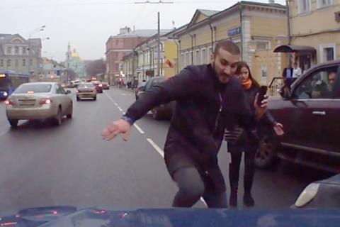 Дикий горец на улицах Москвы(видео).