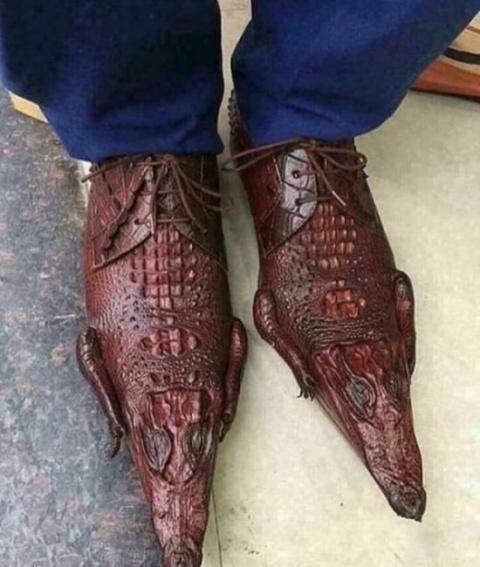 Туфли из крокодиловой кожи (2 фото)
