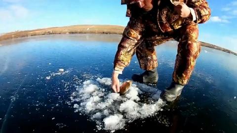 Щука на жерлицы Первый лед 2017-2018. Вот это рыбалка!