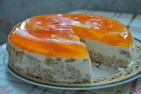 Торт «Апельсинка» без выпечк…