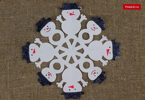 Снежинка «Снеговики»