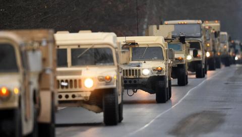 В Польшу вошла колонна НАТОвской техники из Германии