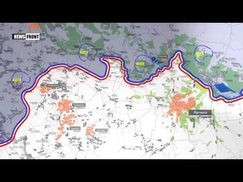 ЛНР: карта обстрелов со стороны ВСУ. 26 апреля 2017