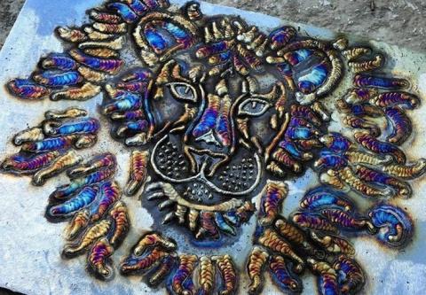 Оригинальные картины из сварочных швов