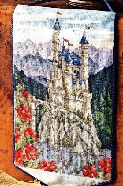 Вышивка крестом — схема вышивки «Замок»