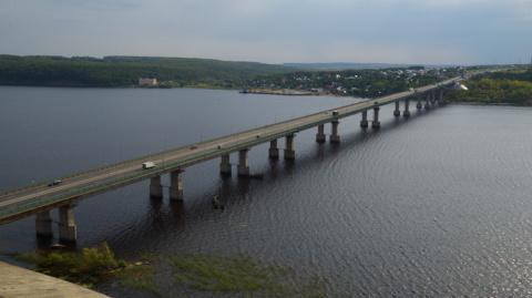 В Татарстане завершен ремонт моста через Волгу на 777 км автомобильной дороги М-7