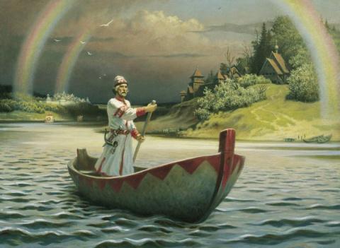 Былинная Русь на картинах художника Бориса Ольшанского