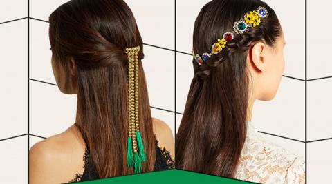 Подборка стильных украшений для волос из новых коллекций