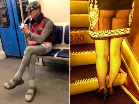 Мода от народа или 19 беспощадных пассажиров российского метро