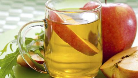Вода с яблочным уксусом и пи…