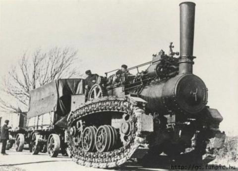 Паровой трактор Хорнсби