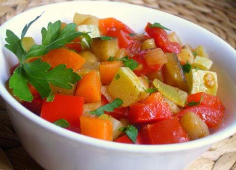 Овощное рагу с тыквой
