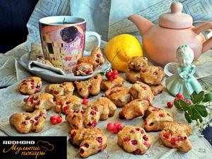 Печенье с брусникой (из ц/з муки)