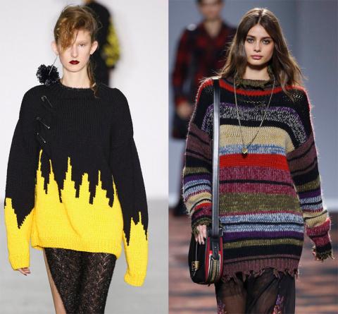 Актуальные модели женских свитеров на сезон осень-зима 2016-2017