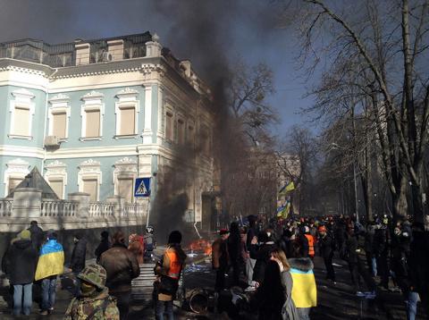 Три года назад Евромайдан на…