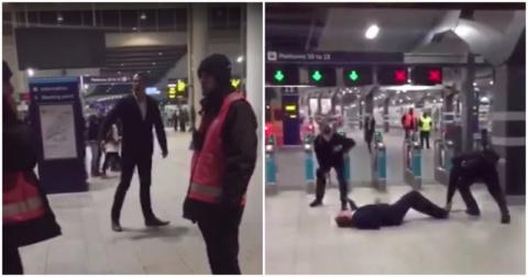 """""""Я гребаная легенда!"""" Лондонские полицейские усмирили неадекватного мужчину под аплодисменты толпы"""