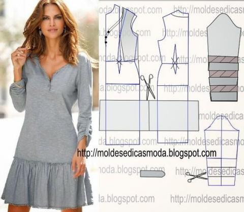 Простые выкройки элегантных платьев