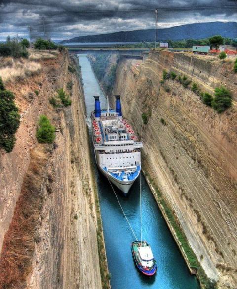Коринфский канал (29 фото)