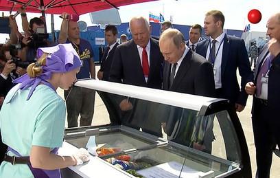 Путин поел мороженого на ави…