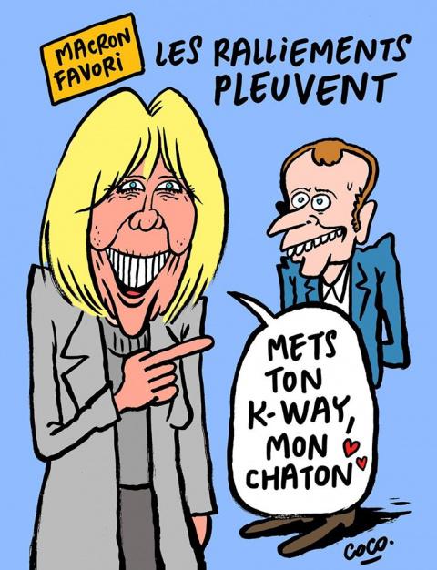Журнал Charlie Hebdo нарисовал карикатуру на Макрона
